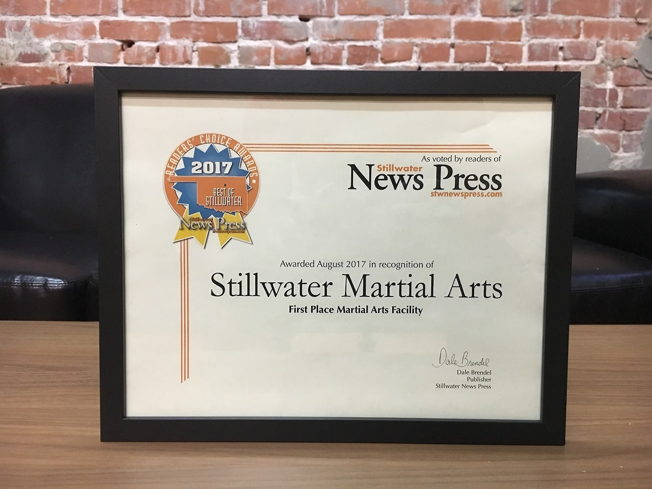 2017 First Place Martial Arts Stillwater Martial Arts